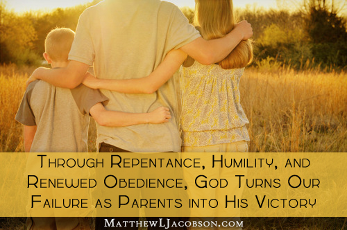 Through Repentance, Humility, and renewed obedience God turns our failure into victory copy