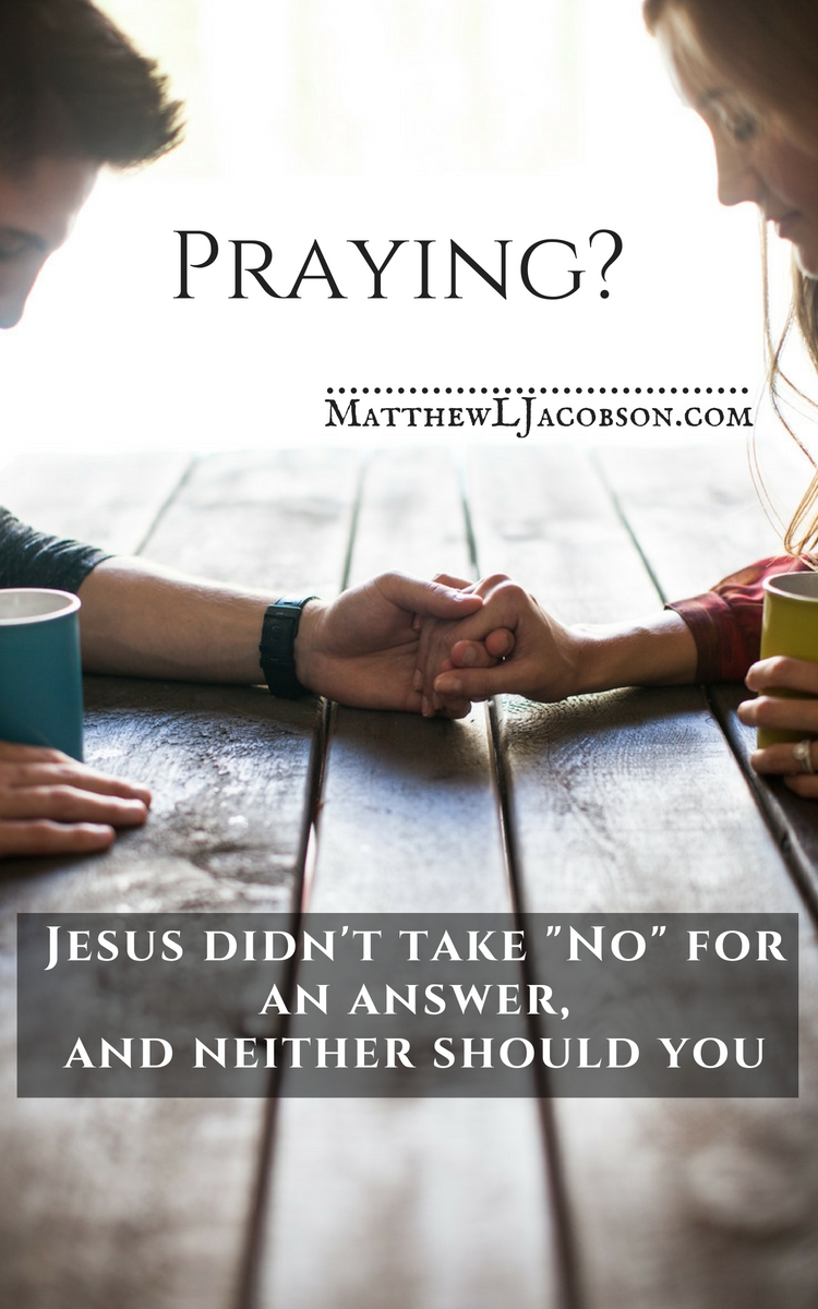 "Does prayer even work? We pray, ask God, and the opposite happens. What's that about? It seems that God often doesn't answer our prayers or often says, ""No"". How do we pray effectively? How can we be sure God is listening? via @faithful_man"