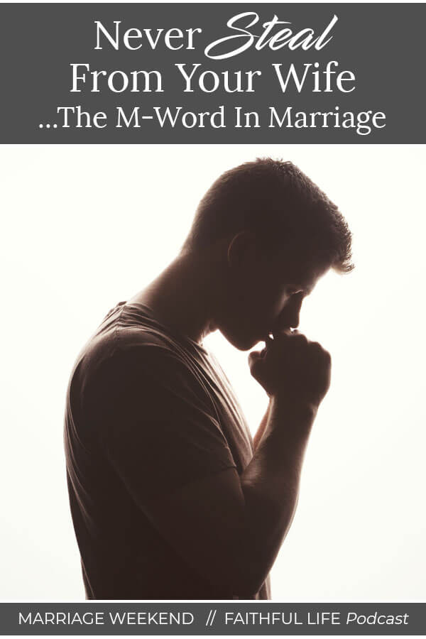Are you a faithful man . . . when your wife isn't present . . . or do you look after yourself and hide what you've been doing from her? If she doesn't find out, it's okay, right? What she doesn't know won't hurt her, right . . . or is it? The M-word . . . is it okay in marriage? via @faithful_man